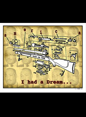 emek x: rifle with part of mlk jr. i have a dream verbiage
